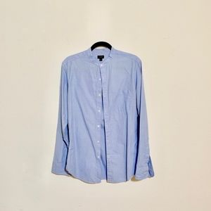 J. Crew Band Collar Two-Ply Finepoint Shirt